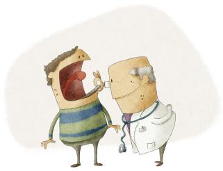 Un médecin consulte un patient